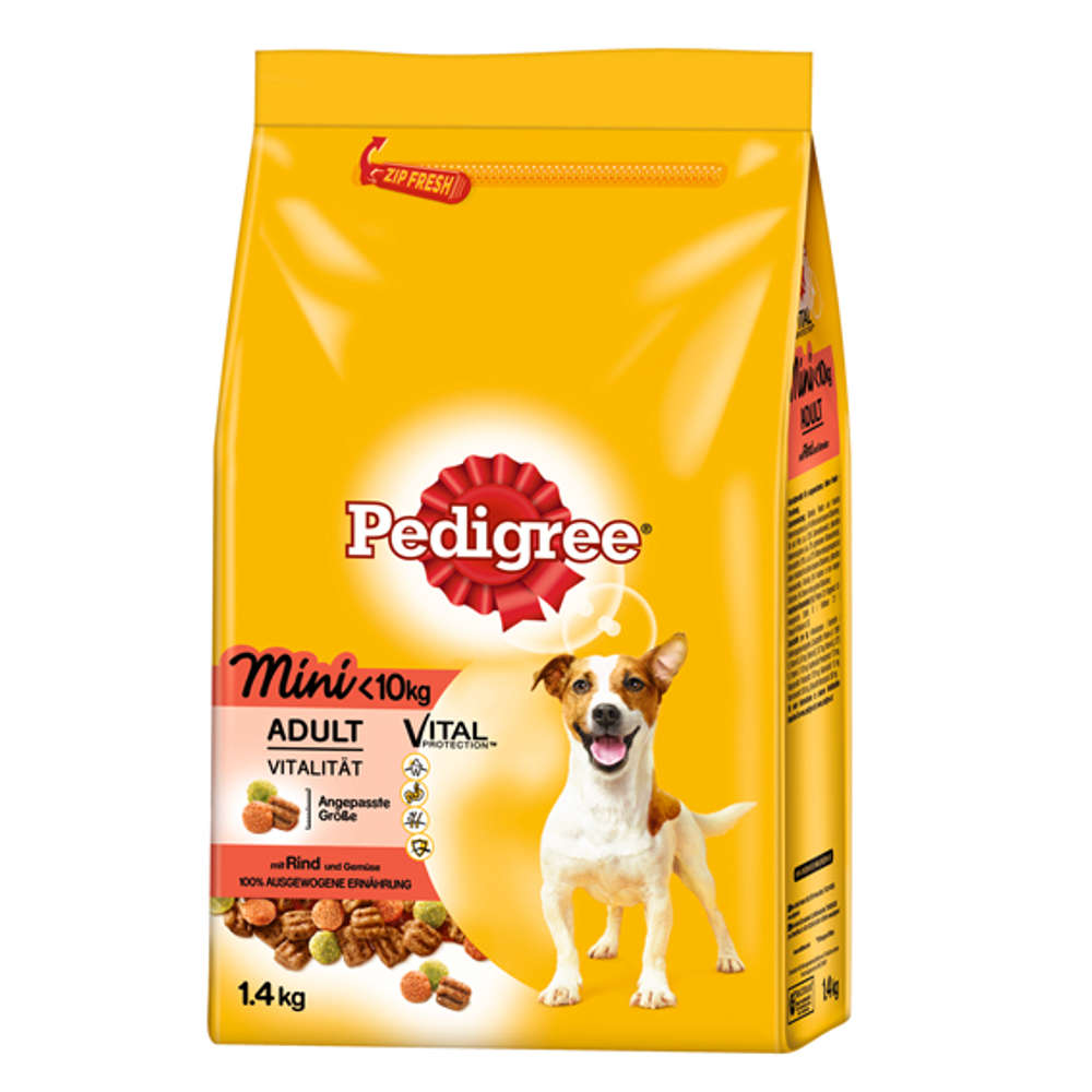 PEDIGREE Mini Adult Rind und Gemüse - Hunde-Trockenfutter