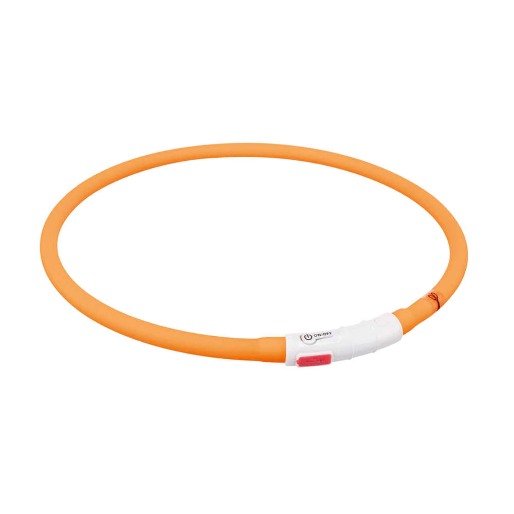 TRIXIE Flash Leuchtring USB XS-XL:70 cm/10 mm, orange