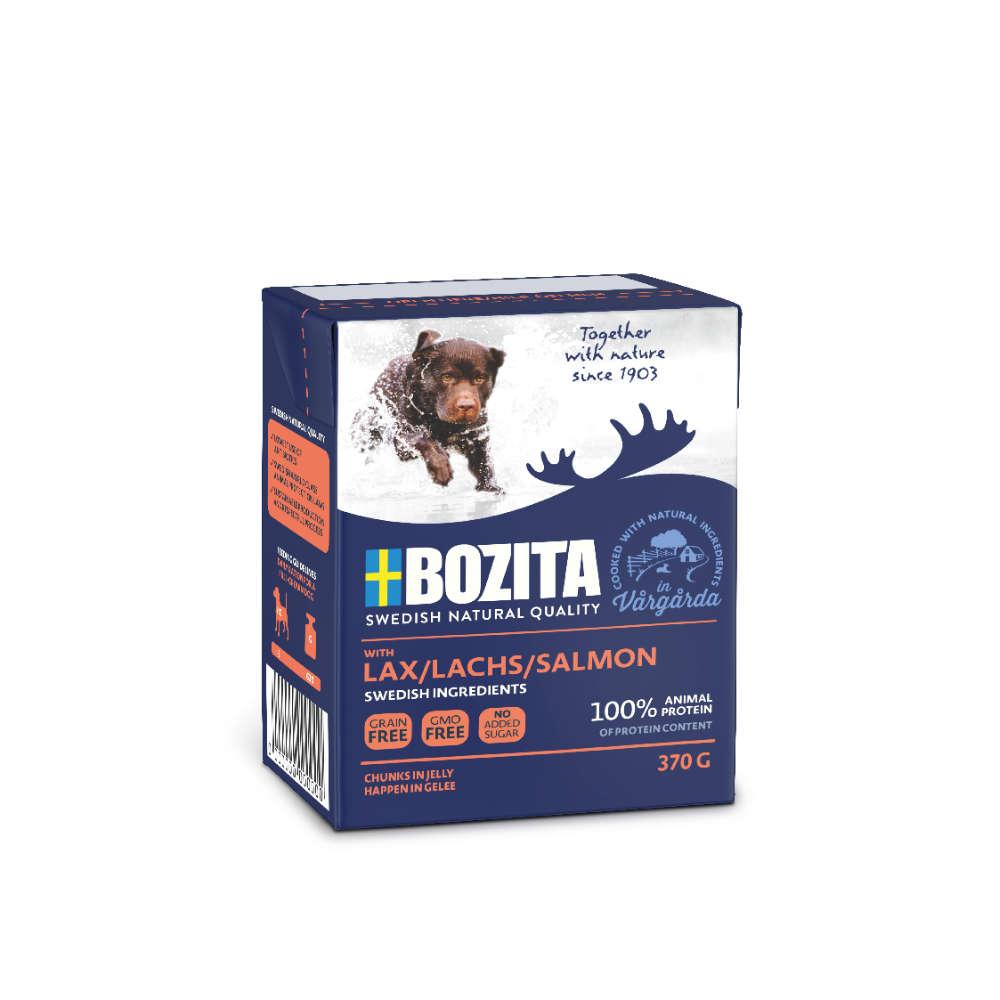 Bozita Hunde-Nassfutter Naturals Häppchen in Gelee Lachs - BOZITA