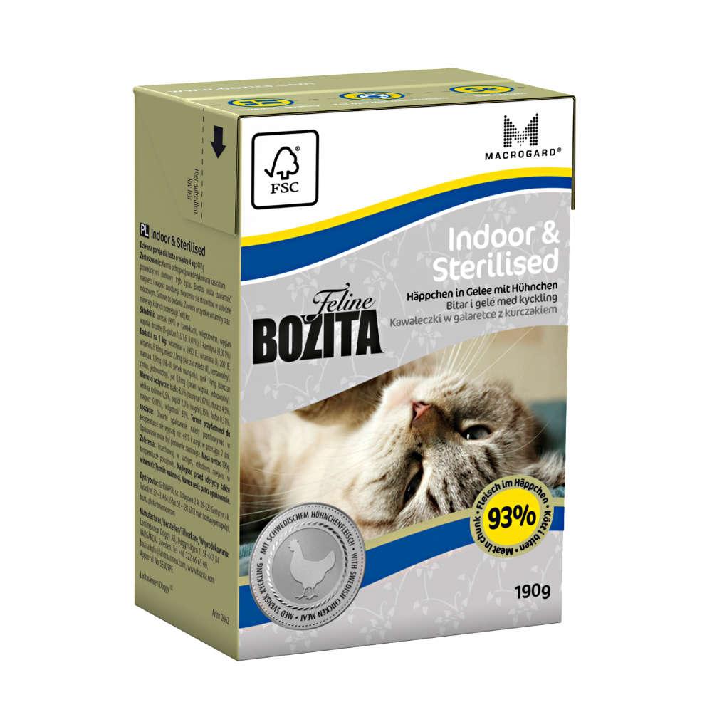 Bozita Feline Indoor & Sterilised Haeppchen in Gelee - Katzen-Nassfutter