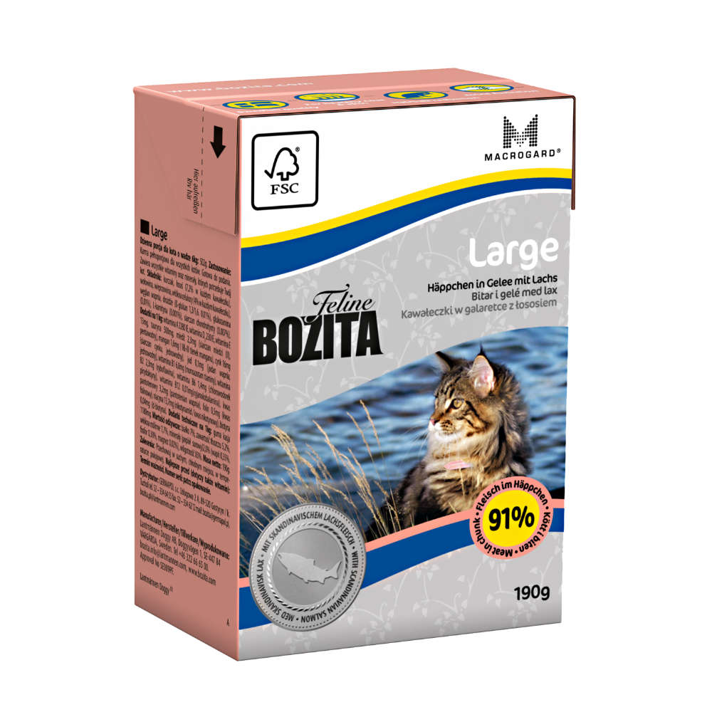 Bozita Feline Large Haeppchen in Gelee - Katzen-Nassfutter
