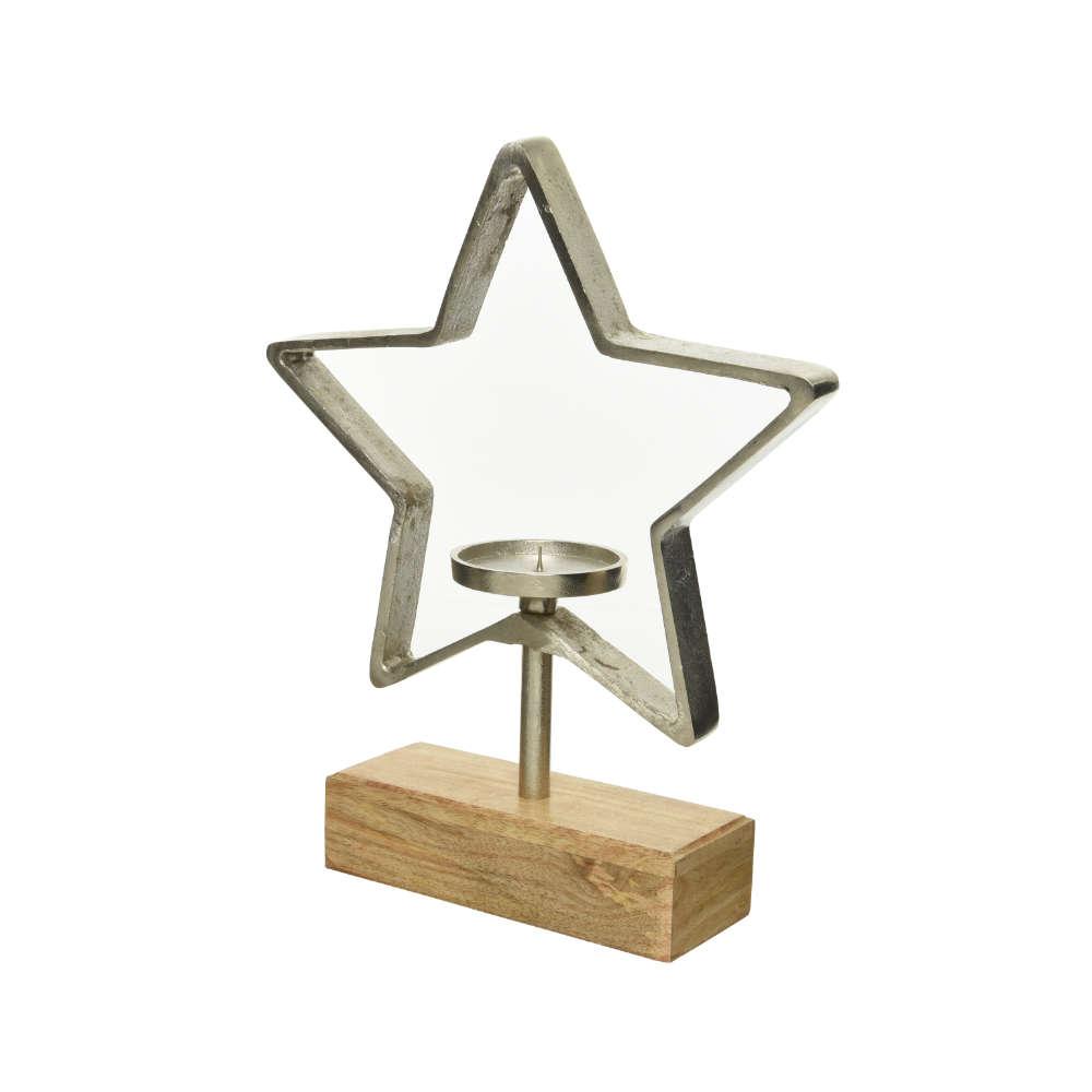 Kerzenhalter Stern