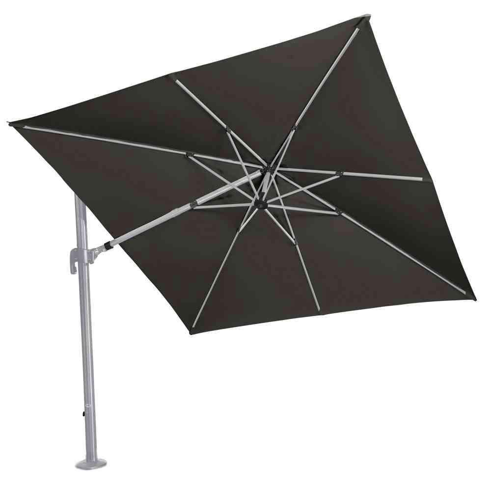 SIENA GARDEN Alphawing N+ Ampelschirm silber/schwarz meliert 300x300cm