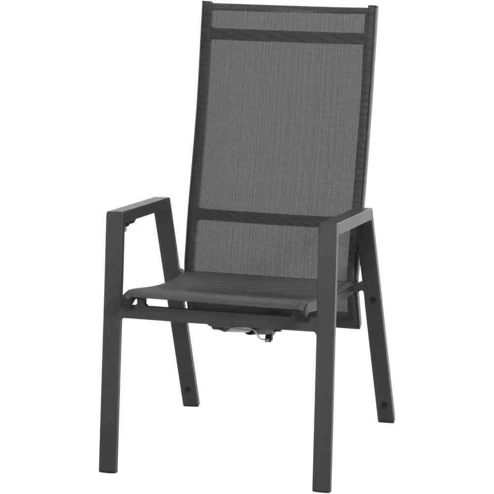 SIENA GARDEN Savona Dining Move Sessel matt anthrazit / silber-schwarz