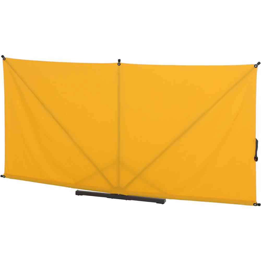 SIENA GARDEN Ben Sichtschutz anthrazit/gelb 150x280cm