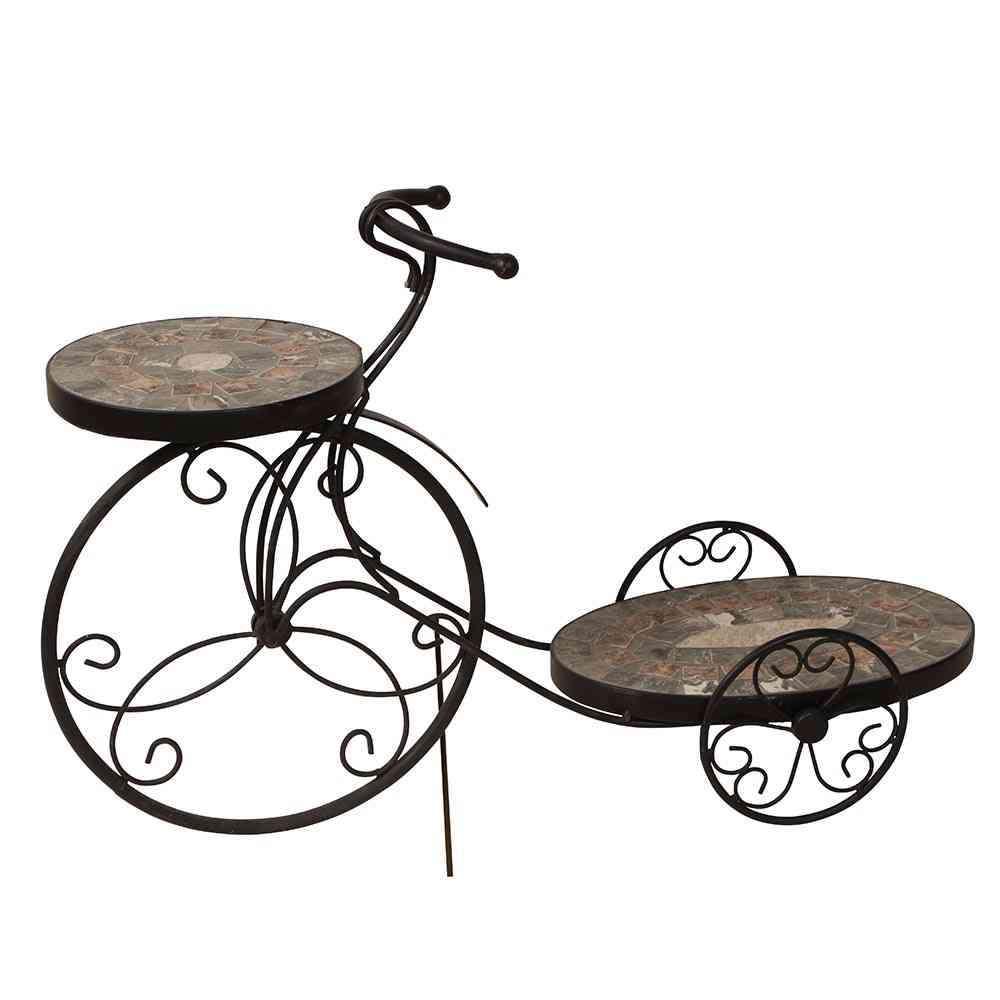Grafik für SIENA GARDEN Blumenständer Fahrrad Rustika, Metall silber-schwarz in raiffeisenmarkt.de