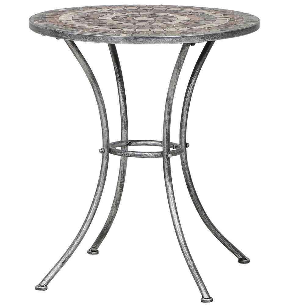 SIENA GARDEN Felina Tisch rund Ø 60cm - Gartentisch mosaik