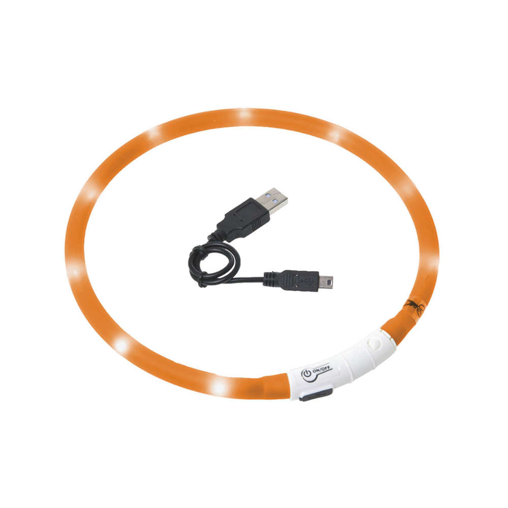 KARLIE Halsband VISIO Light LED 70 cm orange