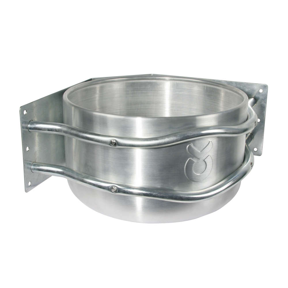 Aluminium-Futtertrog rund, Eckmontage - Futtertrog
