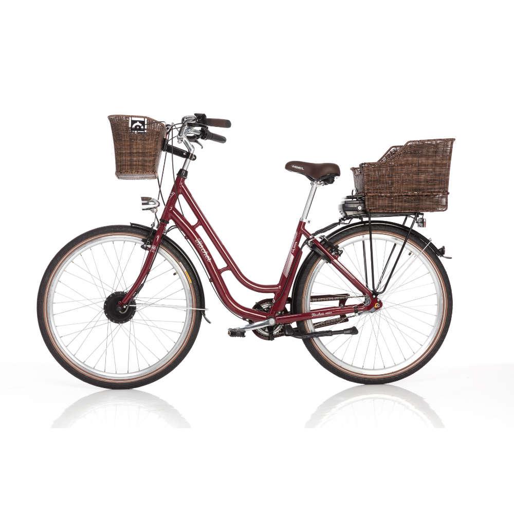 Fischer E-Bike Retro Damen bordeaux