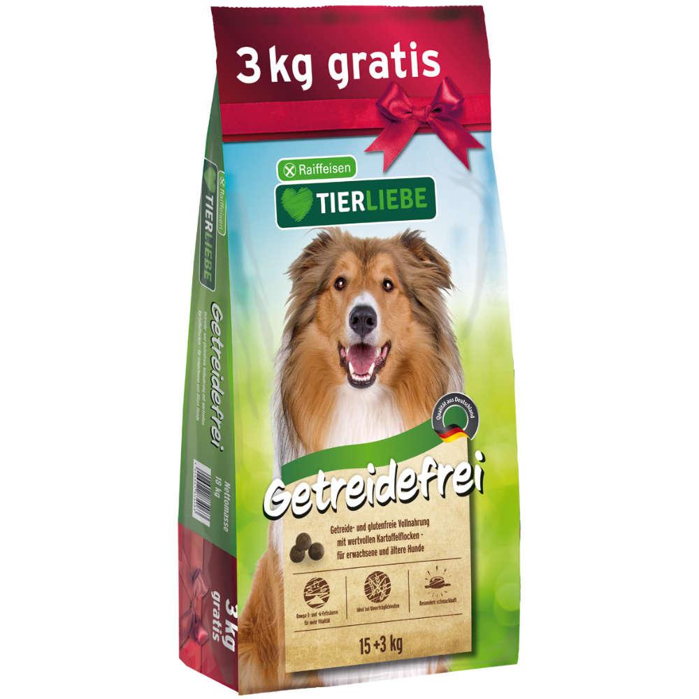 TIERLIEBE Getreidefrei 15+3 kg