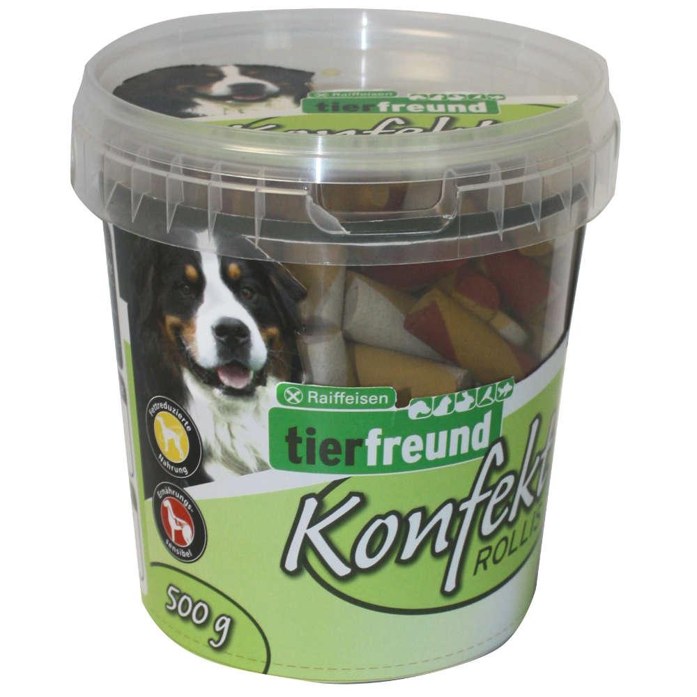 Grafik für Raiffeisen tierfreund Konfekt Rollis in raiffeisenmarkt.de