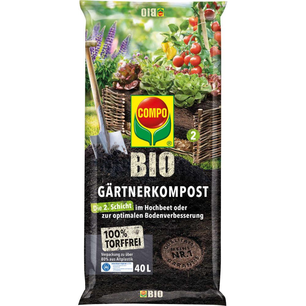 COMPO BIO Gärtner-Kompost torffrei 40 l
