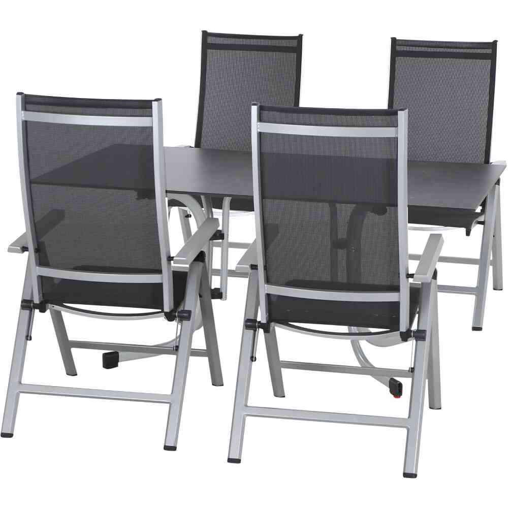 SIENA GARDEN Argos Set 5 tlg. mit Sola Dining Tisch 160x90