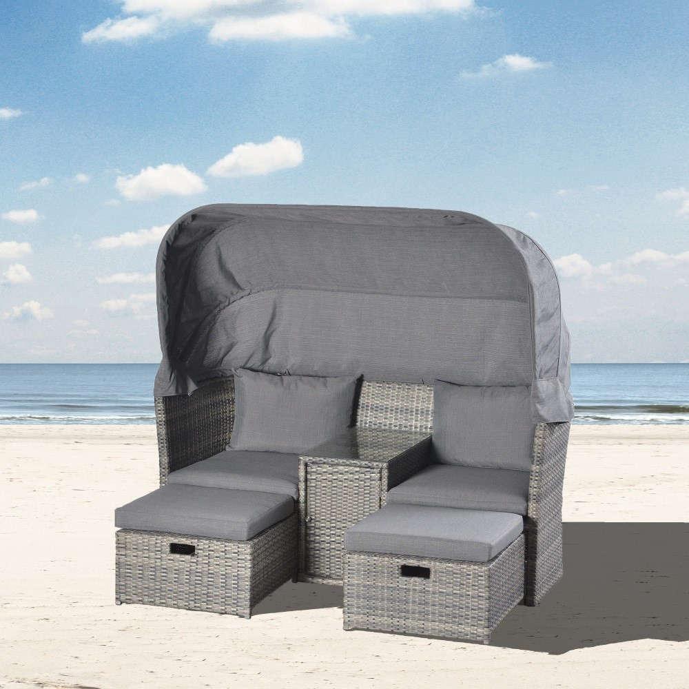 Strandkorb-Lounge