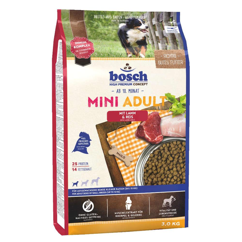 bosch Tiernahrung Mini Adult Lamm & Reis - bosch
