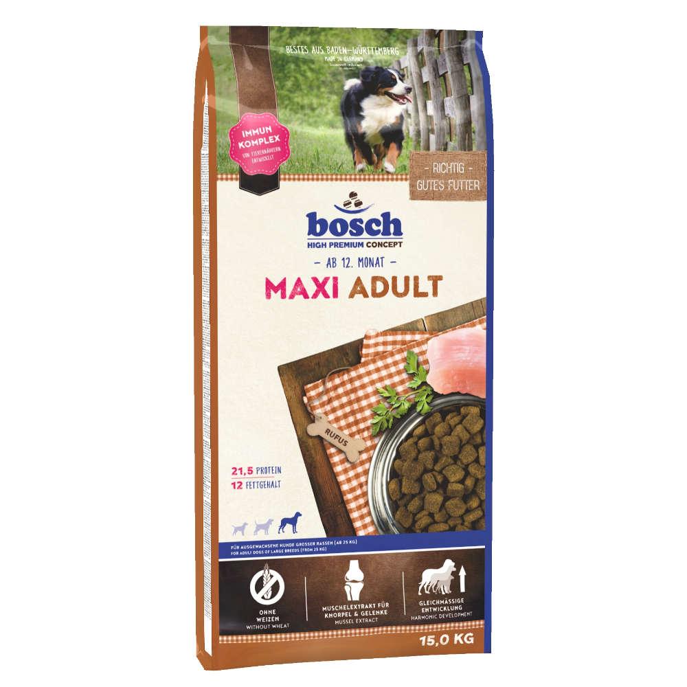 bosch Hunde-Trockenfutter Tiernahrung Maxi Adult - bosch