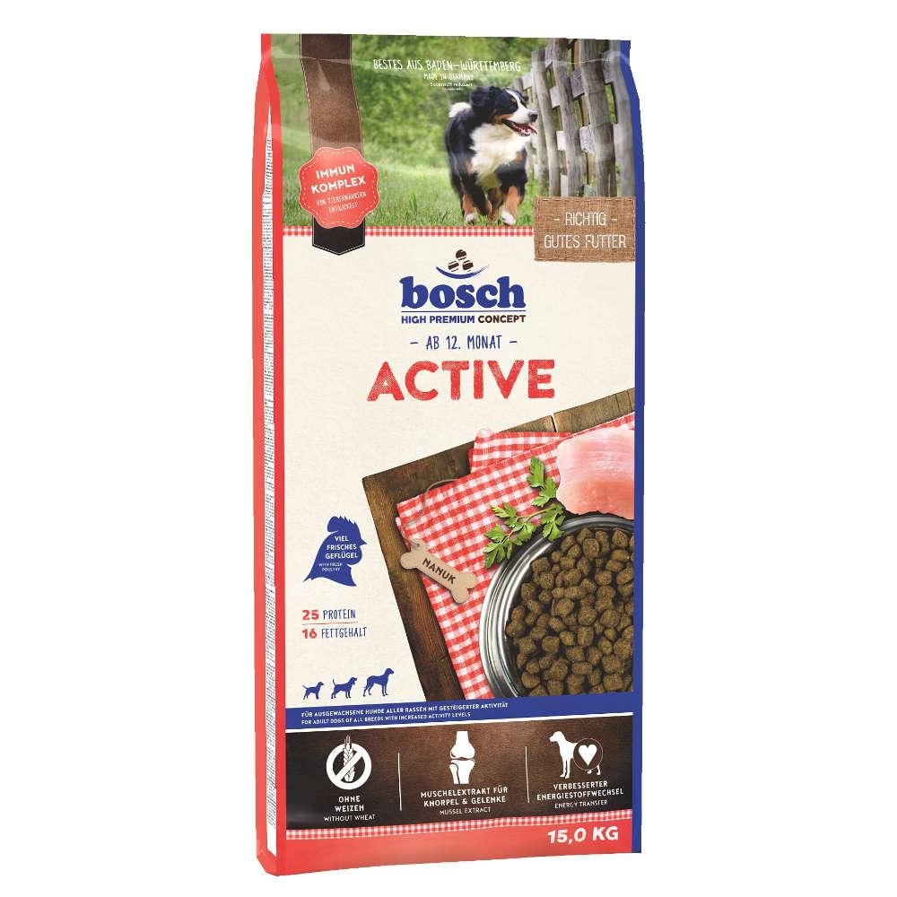 bosch Hunde-Trockenfutter Tiernahrung Active - bosch