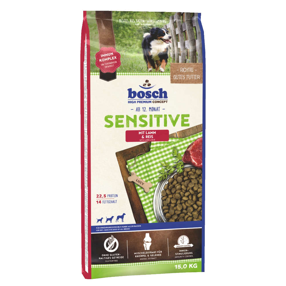 bosch Tiernahrung Sensitive Lamm & Reis - bosch