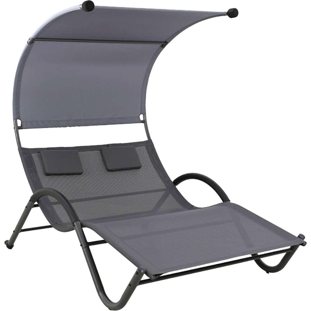 Relax-Doppelliege mit Sonnendach, 205x138x150cm
