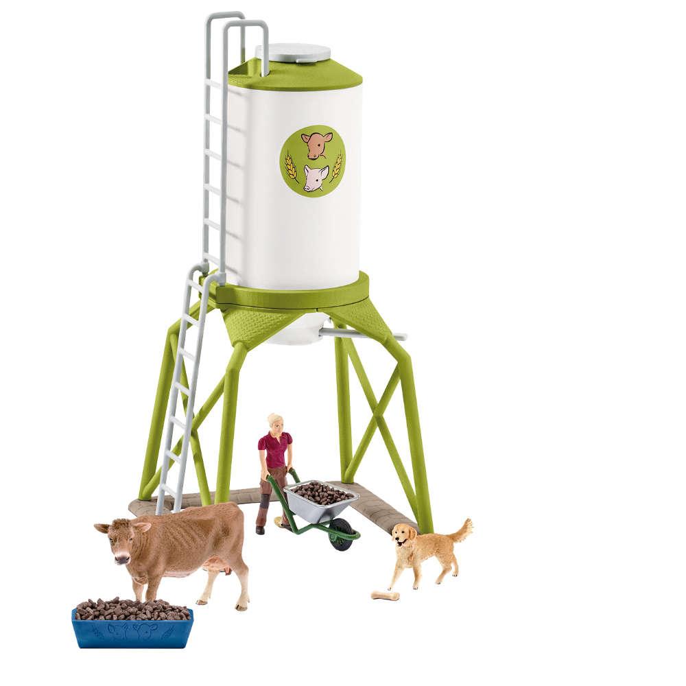 Grafik für Schleich Futtersilo mit Tieren in raiffeisenmarkt.de