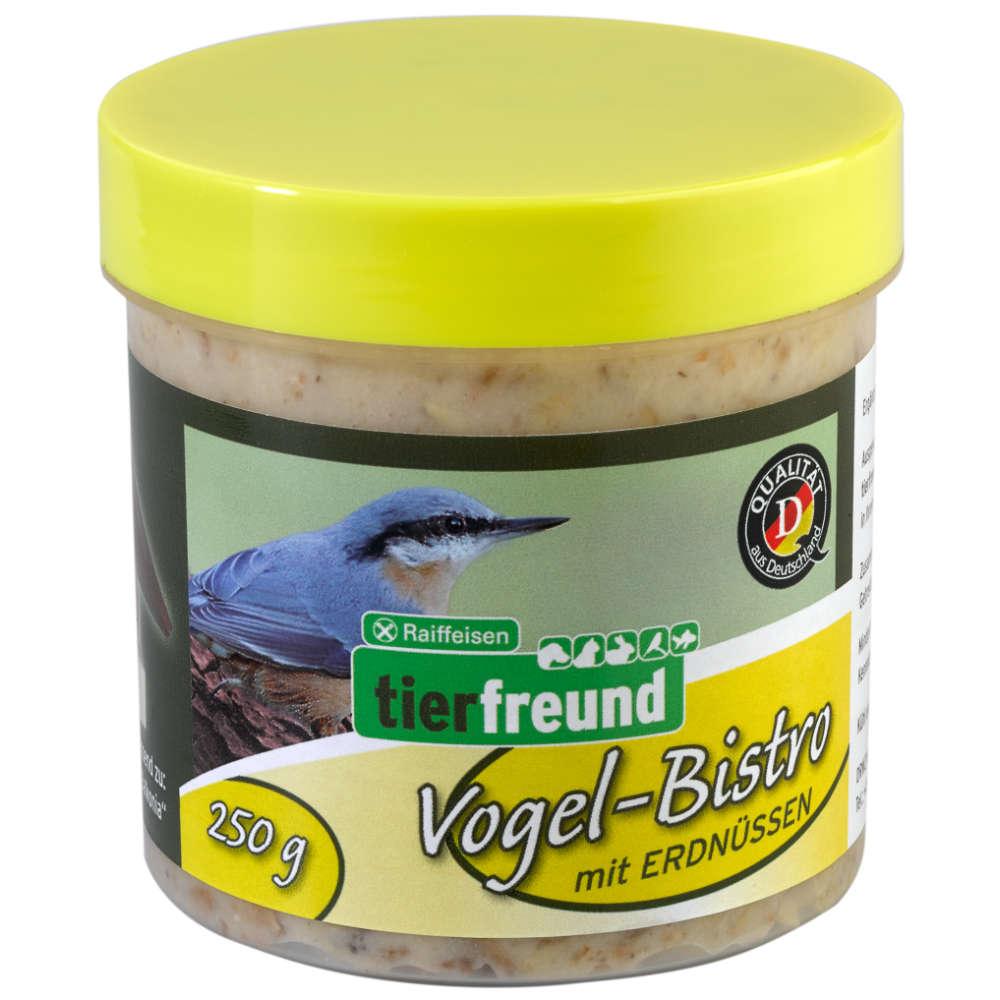 Grafik für Raiffeisen tierfreund Vogel-Bistro mit Erdnüssen in raiffeisenmarkt.de