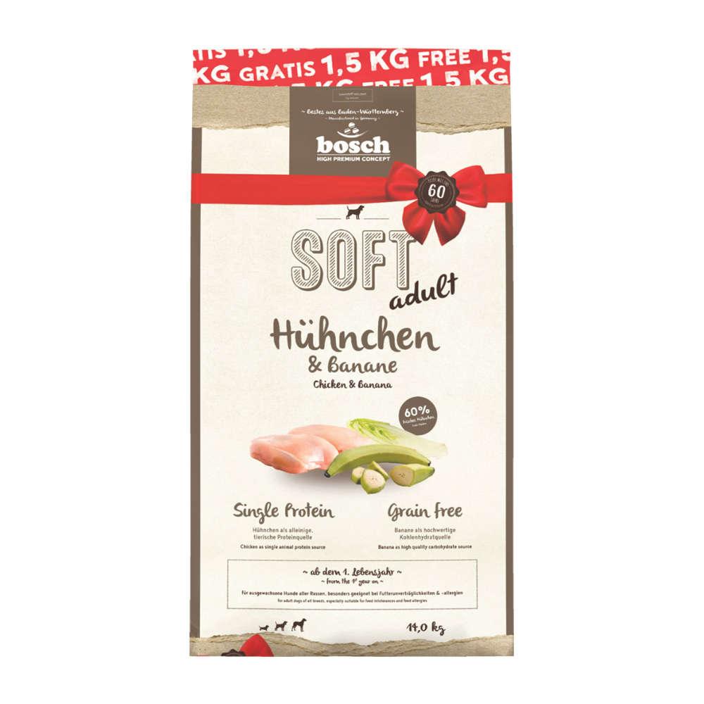 bosch Hunde-Trockenfutter SOFT Adult Hühnchen & Banane
