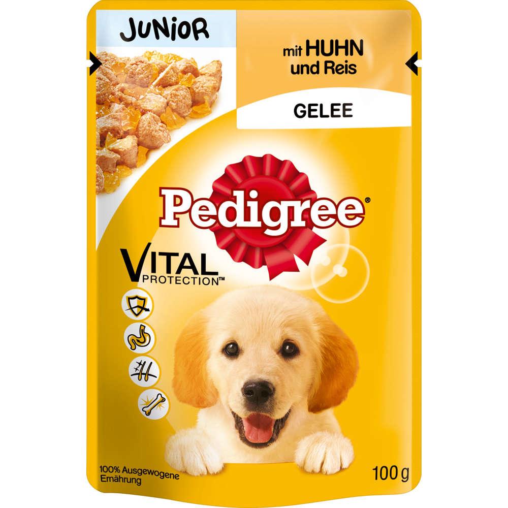 Portionsbeutel Junior Huhn+Reis in Gelee