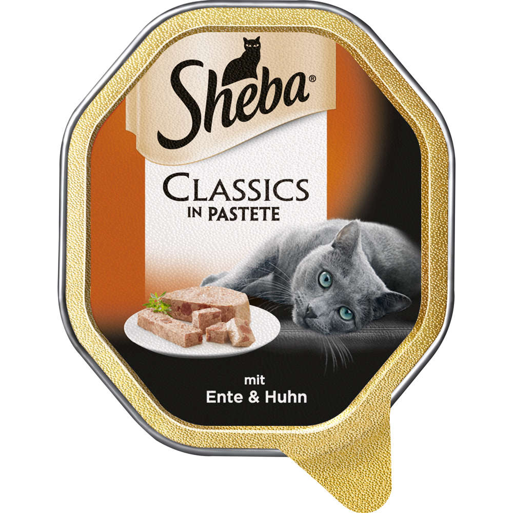 SHEBA Classics in Pastete mit Ente & Huhn-