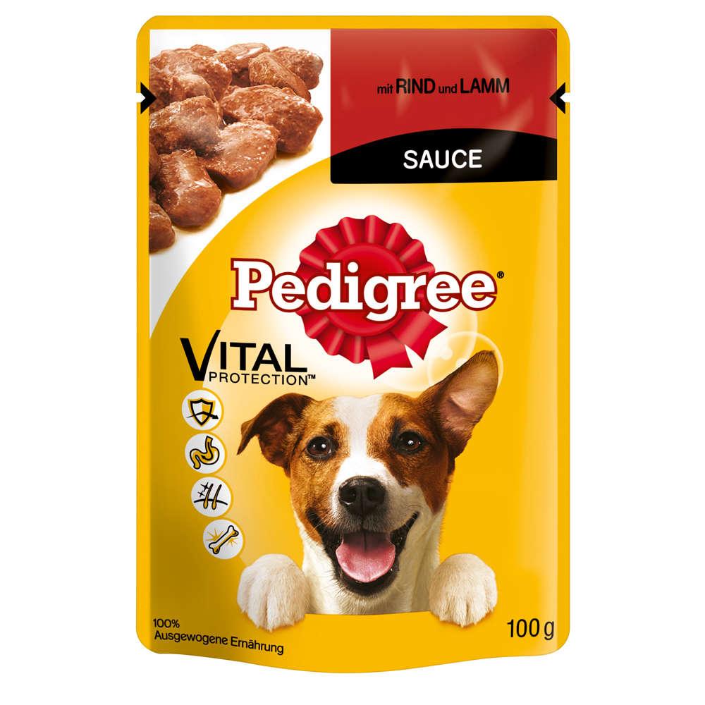 Grafik für PEDIGREE Portionsbeutel mit Rind und Lamm in Sauce in raiffeisenmarkt.de