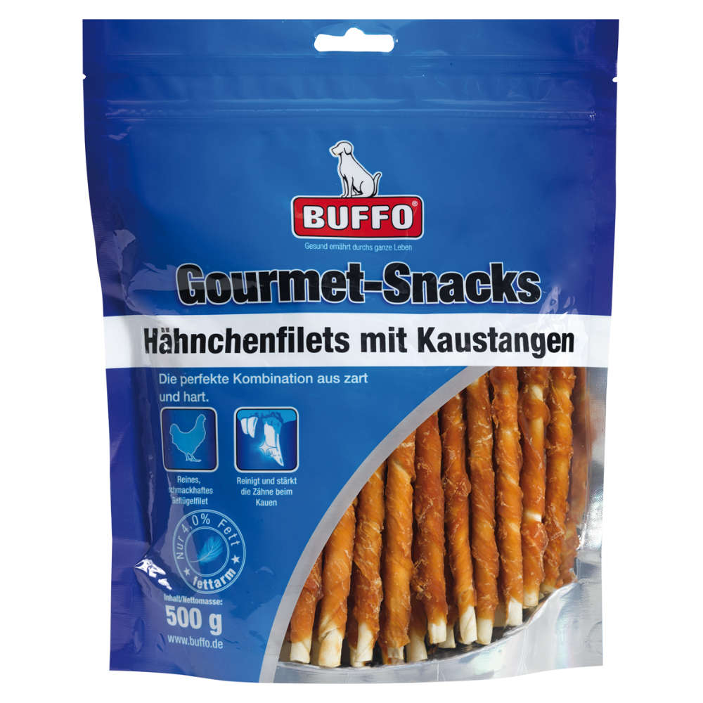 BUFFO Gourmet Snacks Hähnchenfilets mit Kaustangen