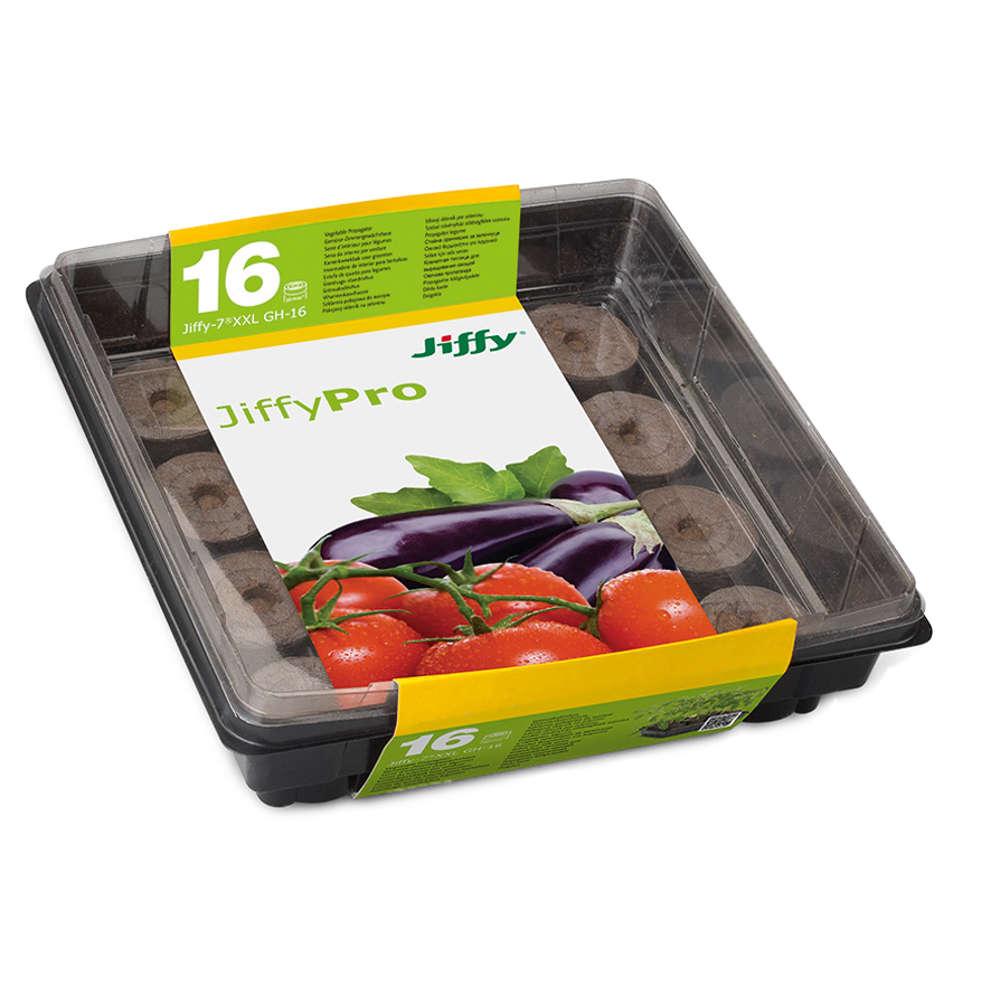 Jiffy Tomaten-Treibhaus - Torf-Anzuchttoepfe