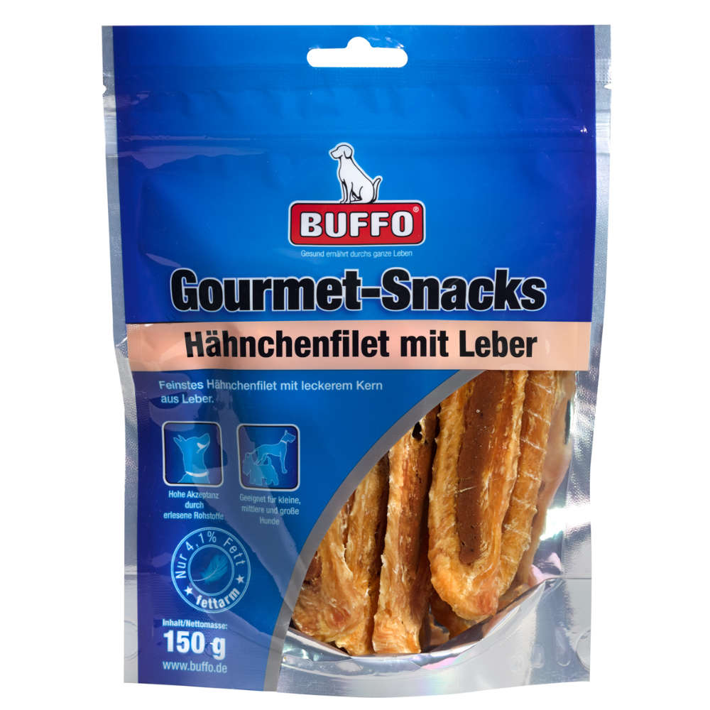 Gourmet Snacks Hähnchenfilet mit Leber