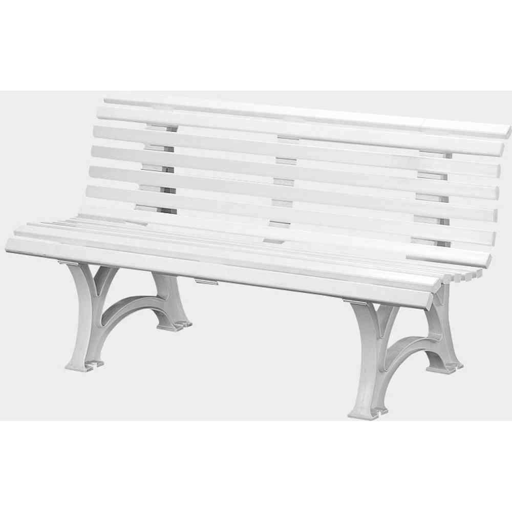 BLOME Gartenbank Helgoland 150 cm Kunststoff weiß