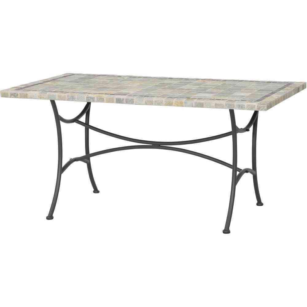 siena garden valona tisch 150 x 90 cm gestell stahl steinoberfl che. Black Bedroom Furniture Sets. Home Design Ideas