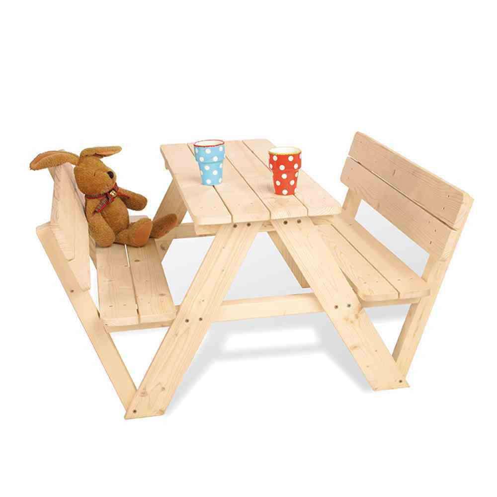 PINOLINO Kindersitzgruppe Nicki für 4 mit Rückenlehne