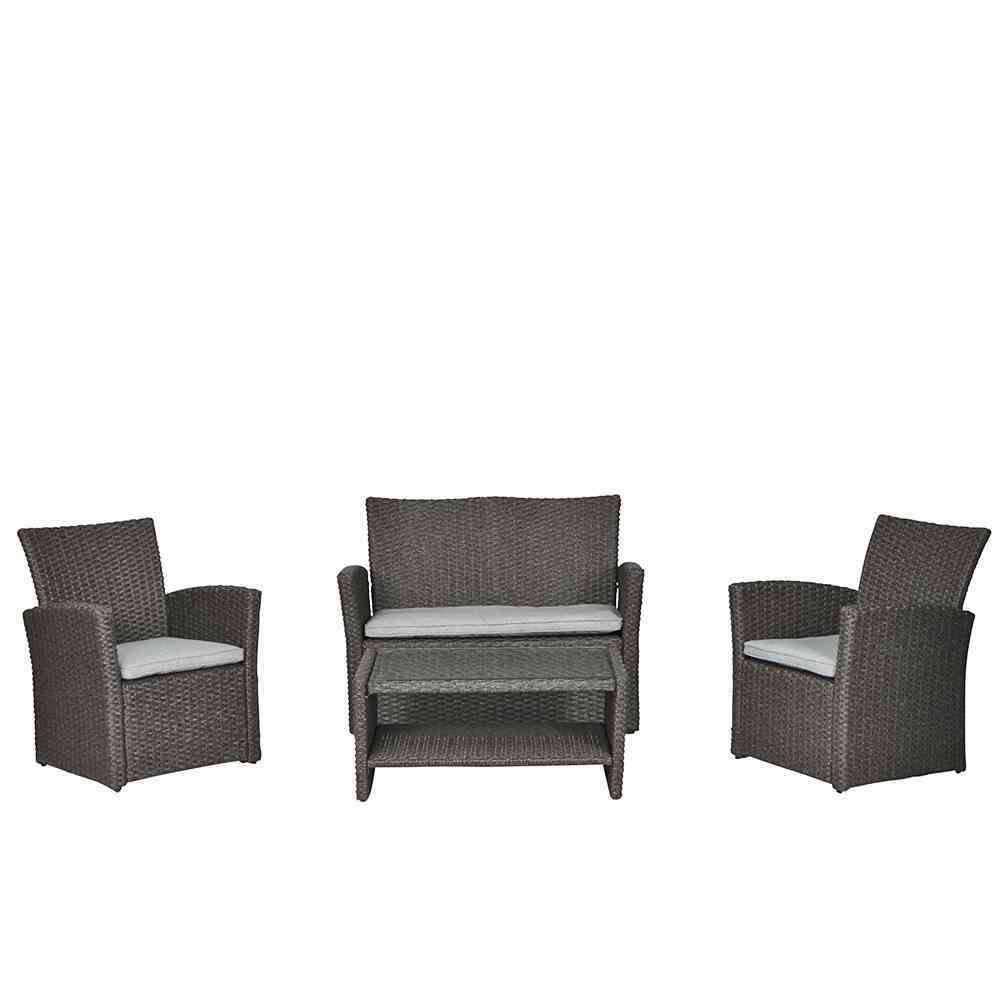 siena garden lounge set vegas grau 4 teilig. Black Bedroom Furniture Sets. Home Design Ideas