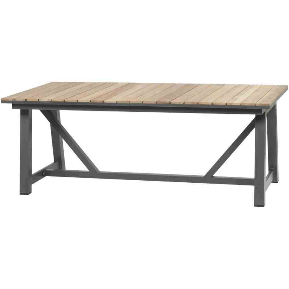 siena garden colina ausziehtisch aluminium fsc teak 100. Black Bedroom Furniture Sets. Home Design Ideas