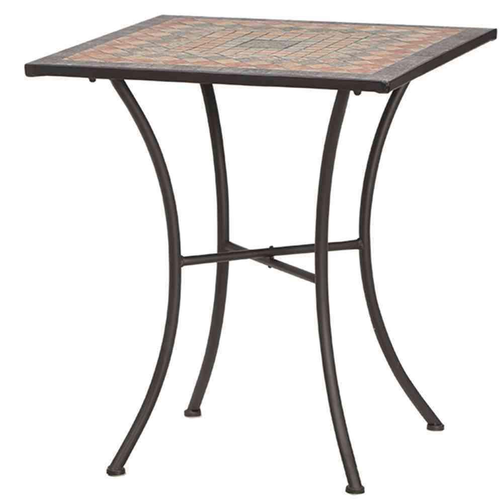 SIENA GARDEN Tisch Prato eckig 64x64 cm Eisen mit Mosaikoptik
