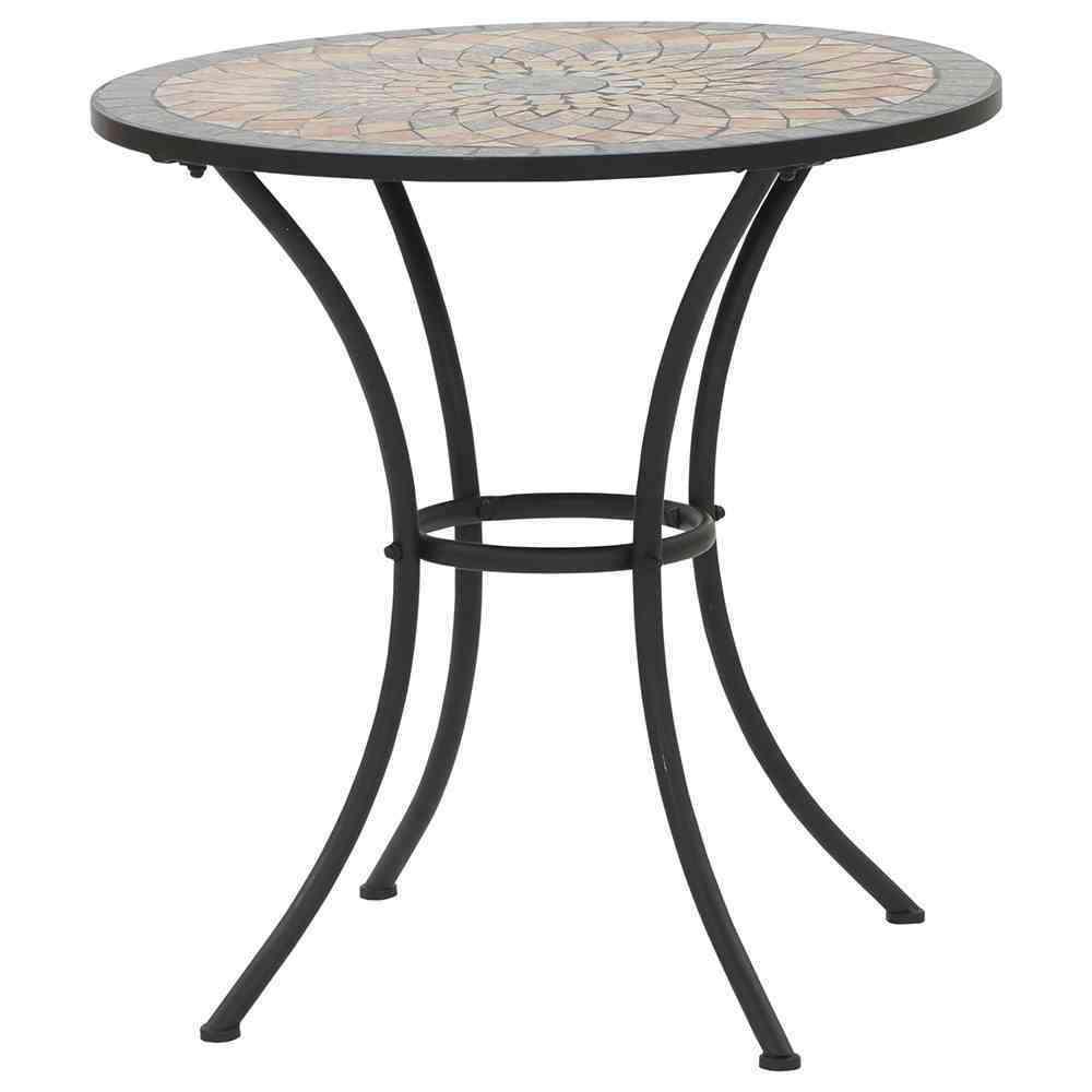 SIENA GARDEN Tisch Prato rund 70 cm Eisen mit Mosaikoptik