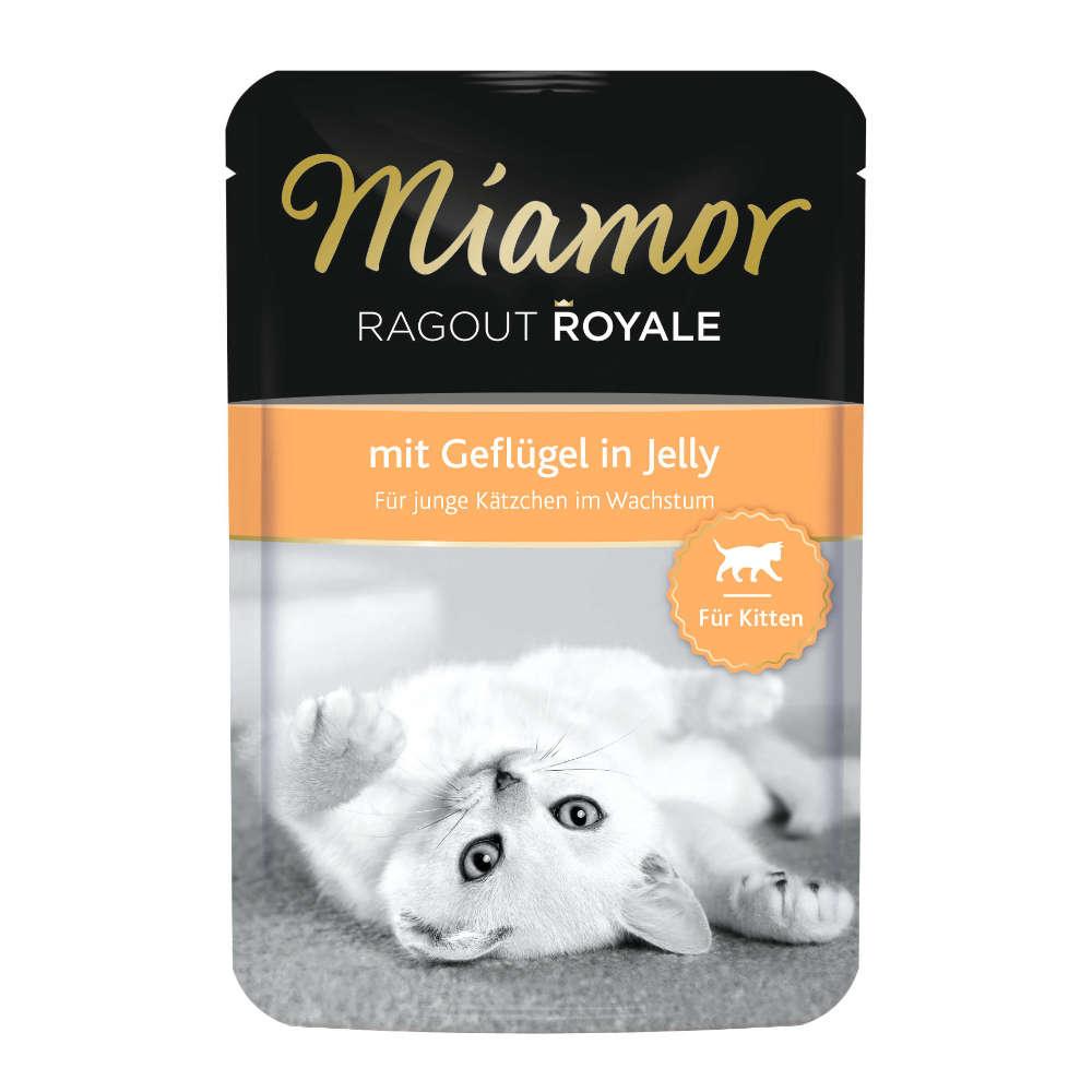 Miamor Ragout Royale Kitten mit Geflügel in Jelly