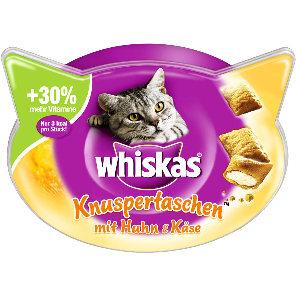 Grafik für WHISKAS Knuspertaschen Huhn und Käse in raiffeisenmarkt.de