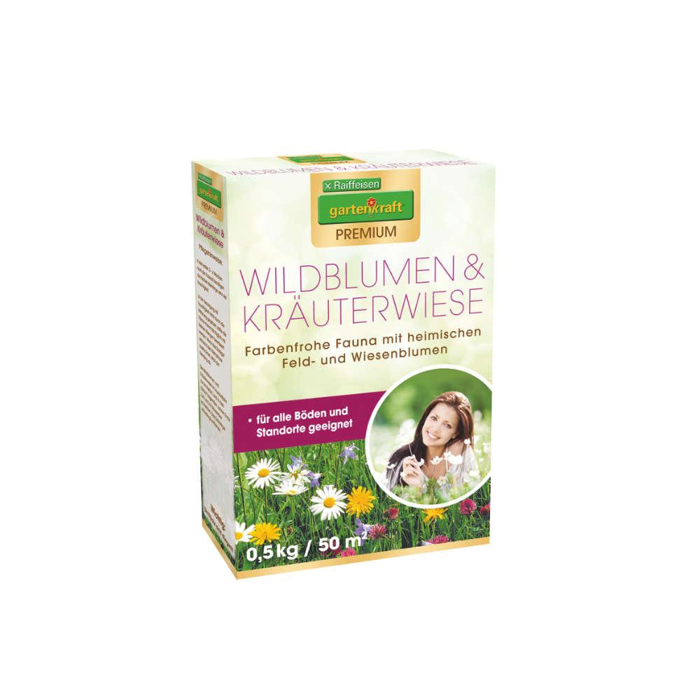 Raiffeisen gartenkraft Premium Wildbluete / Kraeuterwiese - Saemereien