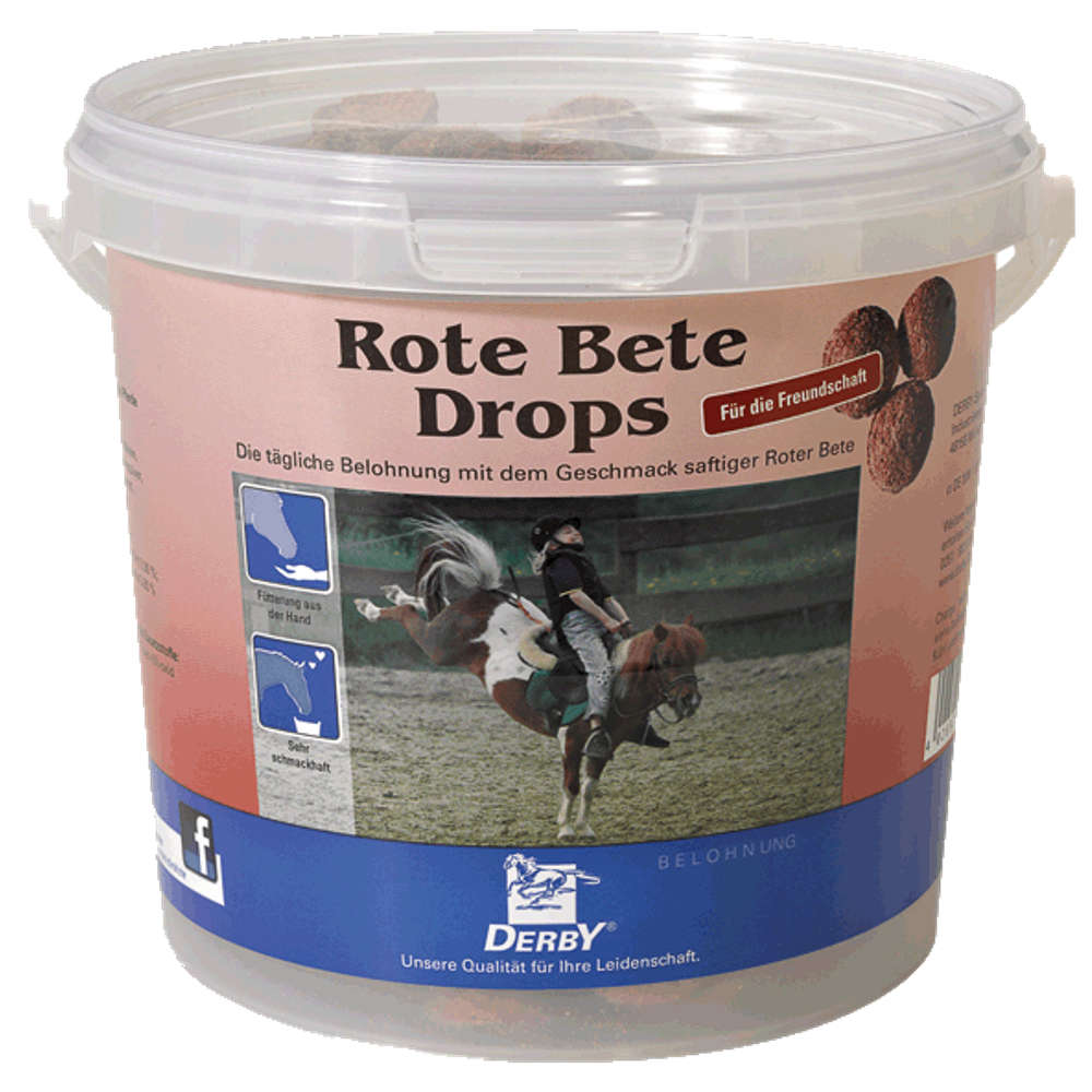 DERBY Rote Beete Drops - Pferdeleckerlies