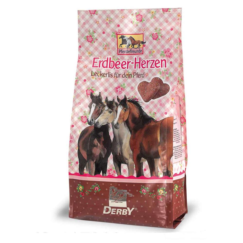 Pferdefreunde Erdbeer-Herzen - Pferdeleckerlies