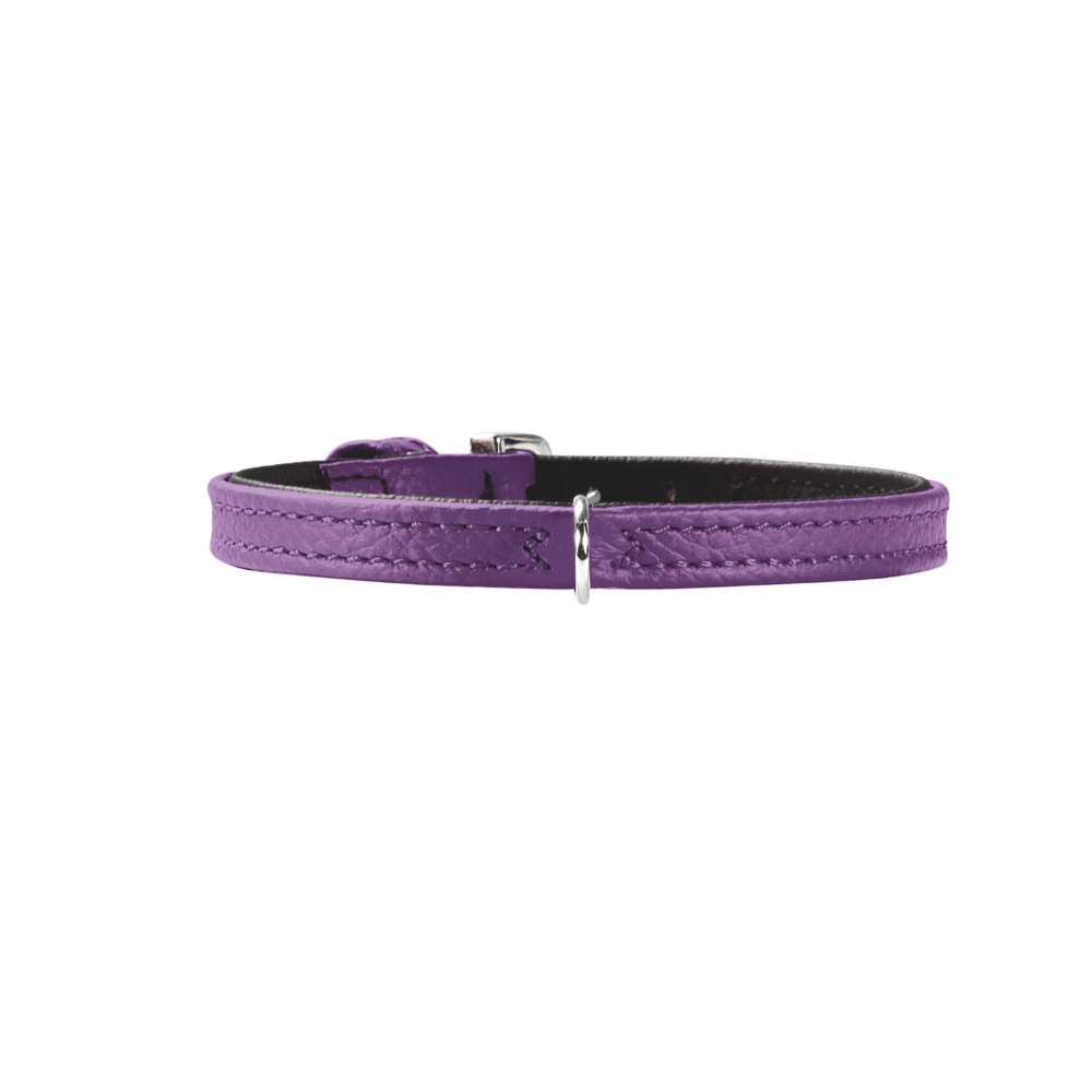 HUNTER Halsband Tiny petit XXS-XS Gr.27 nickel Nappaleder - Hundehalsband
