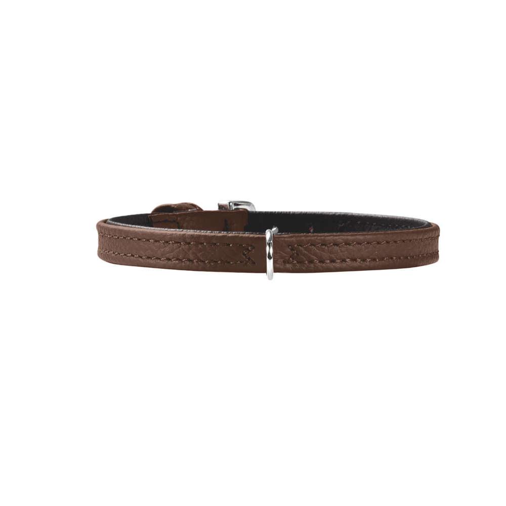 HUNTER Halsband Tiny petit XXS-XS Gr.24 nickel Nappaleder - Hundehalsband