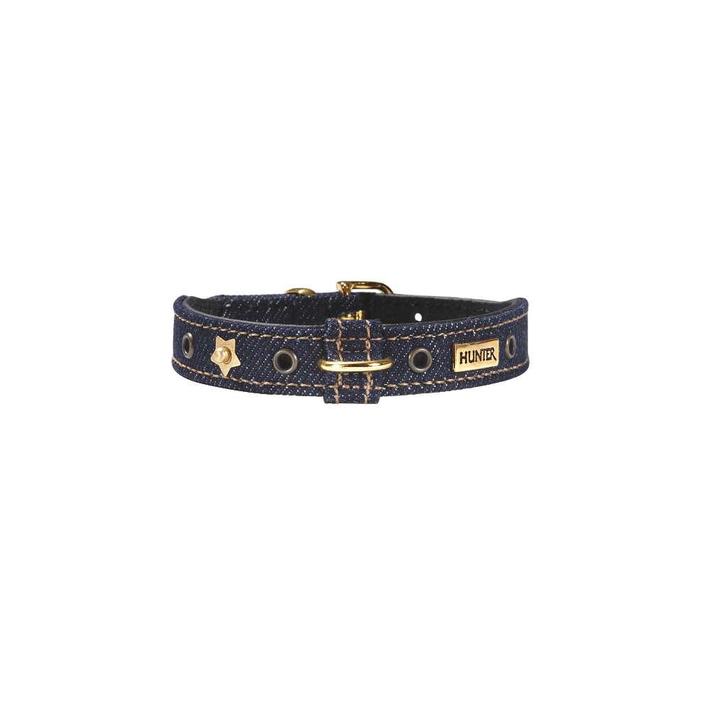 HUNTER Halsband Jeans petit Gr.24 gold - Hundehalsband
