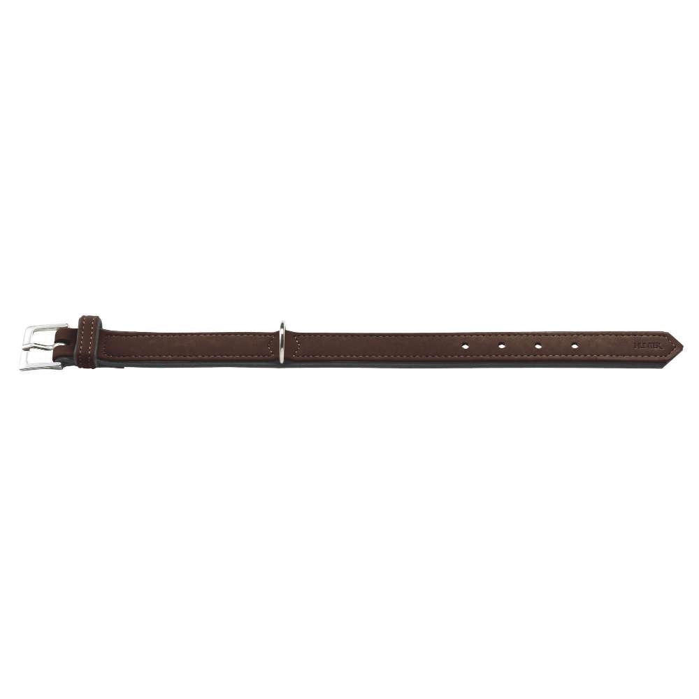 HUNTER Halsband Softie S-M 45 nickel Art-Nubuk - Hundehalsband