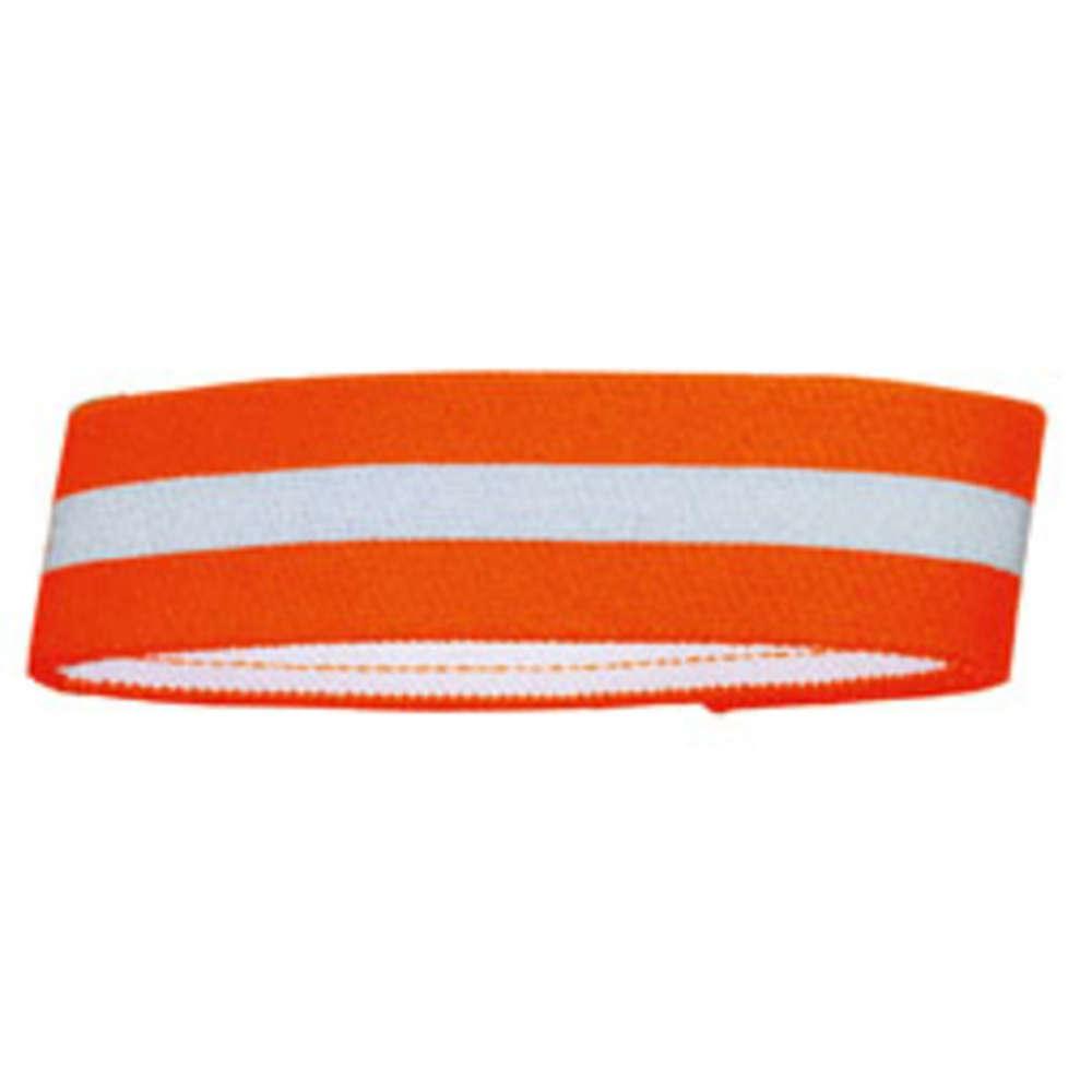 HUNTER Warnband mit Klettverschluss reflektierender Streifen (orange)  - Hundezubehoer